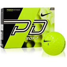 Nike Power Distance Soft Yellow Personalized Golf Balls