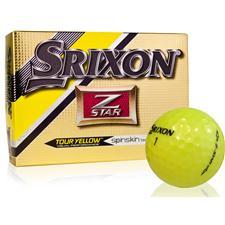 Srixon Z Star 4 Tour Yellow Personalized Golf Balls
