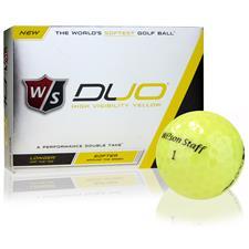 Wilson Staff Duo Yellow Golf Balls