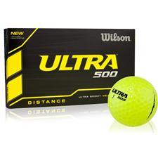 Wilson Ultra 500 Distance Yellow Golf Balls