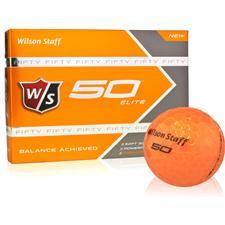 Wilson Staff Fifty Elite Orange Golf Balls