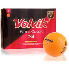 Volvik White Color S3 Orange Golf Balls