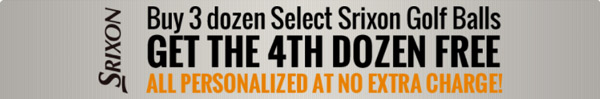 Buy 3 Dozen Select Srixon Golf Ball Get the 4th Dozen Free All Personalized at No Extra Charge