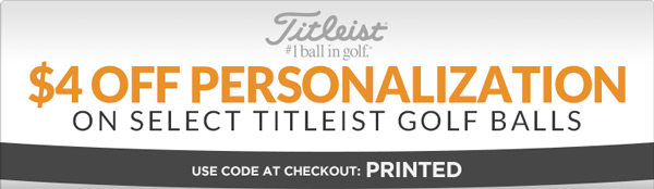 $4 Off Personalization on Select Titleist Golf Balls