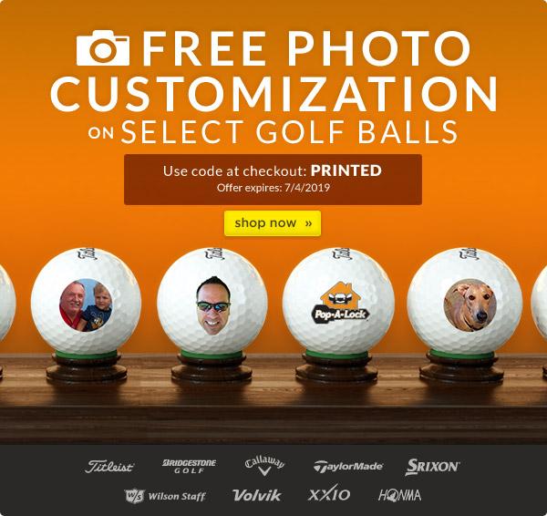 Free Photo Customization on Select Golf Balls!