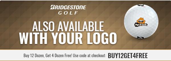 Buy 3 Dozen Get 1 Dozen Free on Bridgestone TOUR B Golf Balls