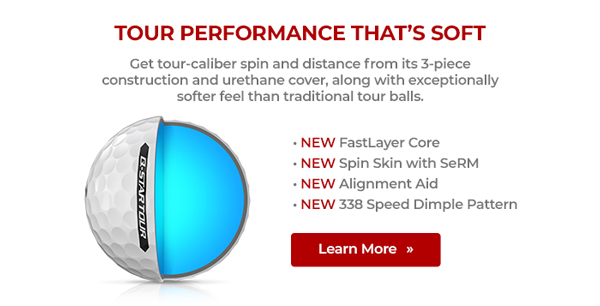 Get tour-caliber spin and distance from its 3-piece construction and urethane cover, along with exceptionally softer feel than traditional tour balls.